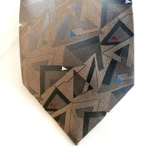 Wash N Wear Wemlon Mens Necktie Geometric Triangle